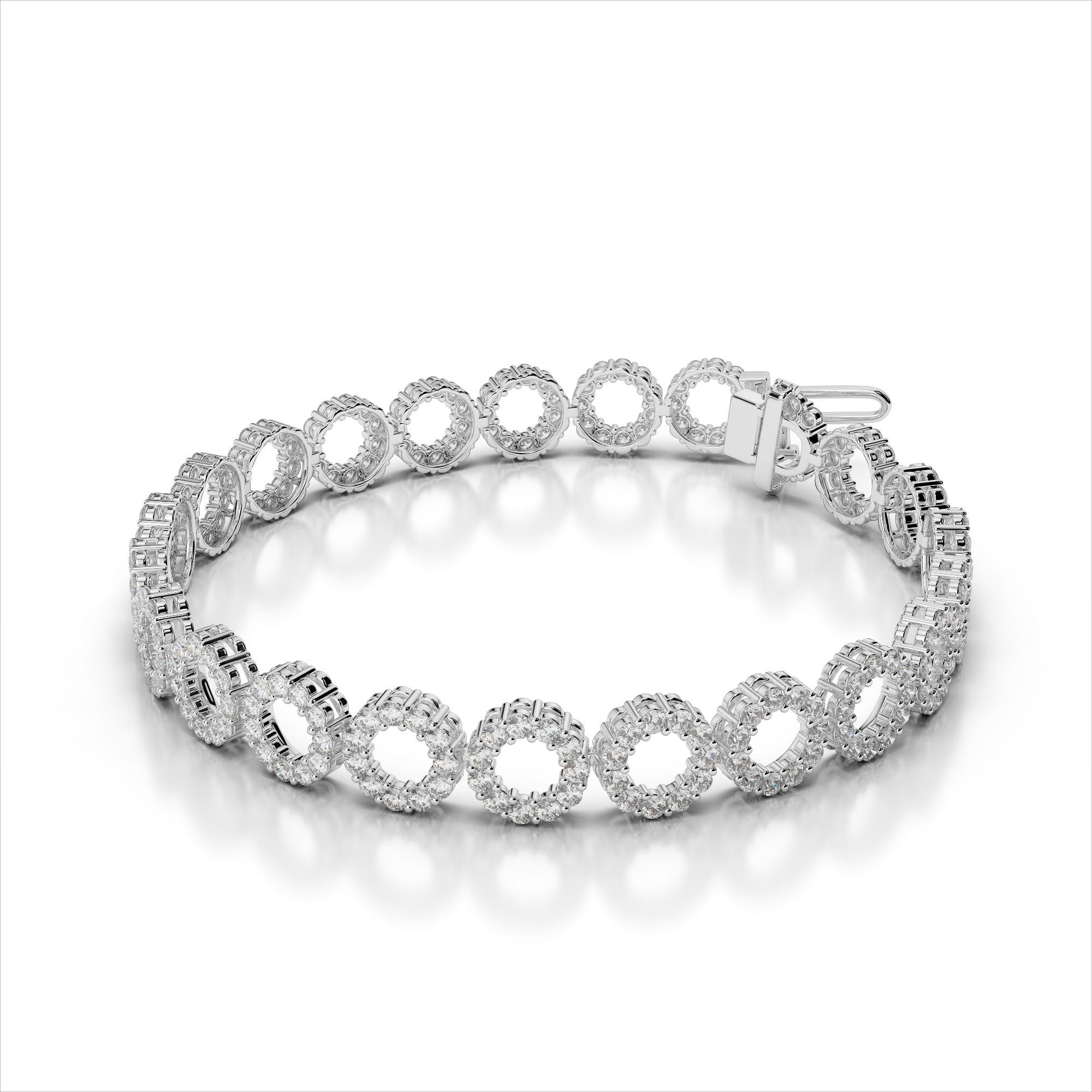 Dynamic Diamond Circle Link Bracelet
