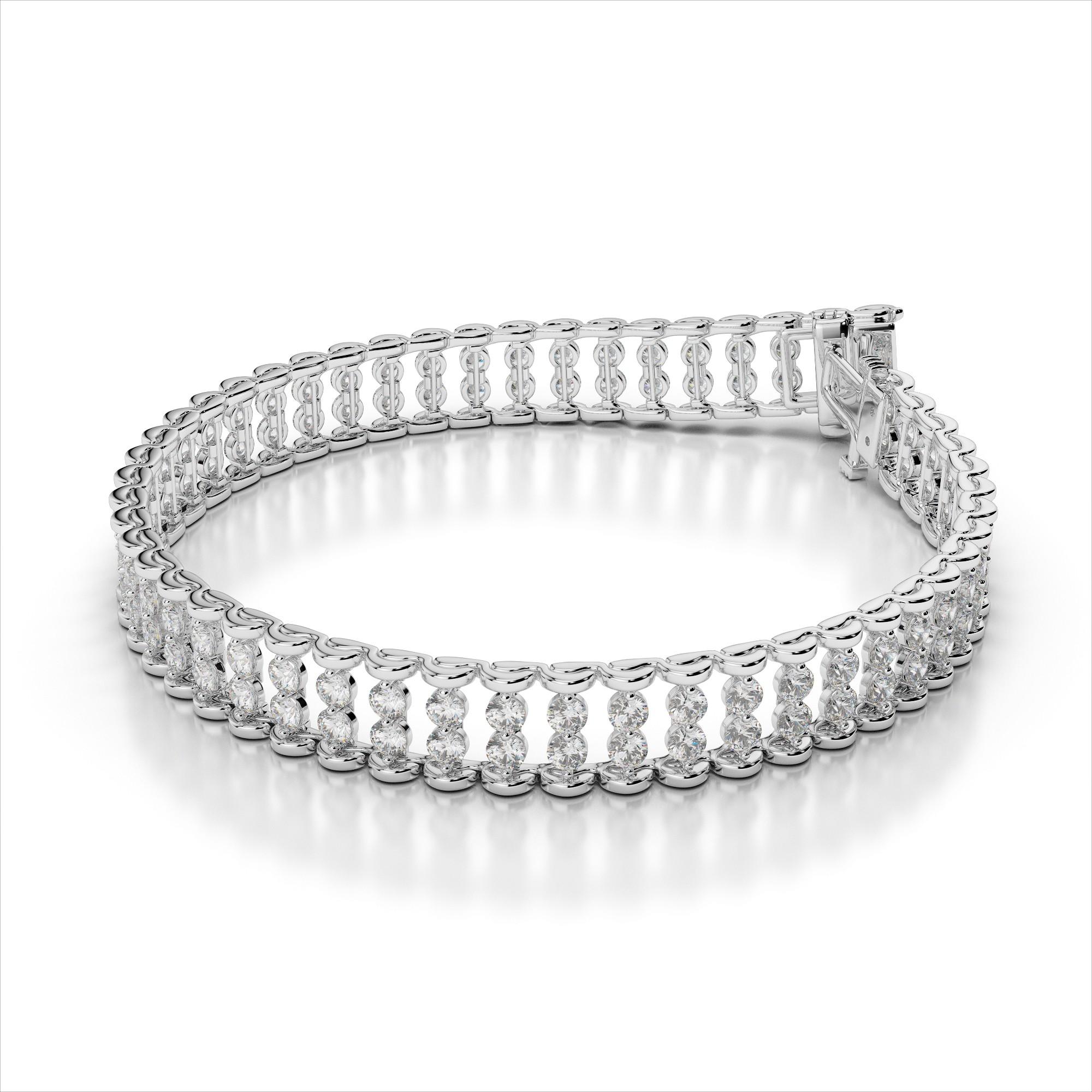 Two Row Diamond Bracelet