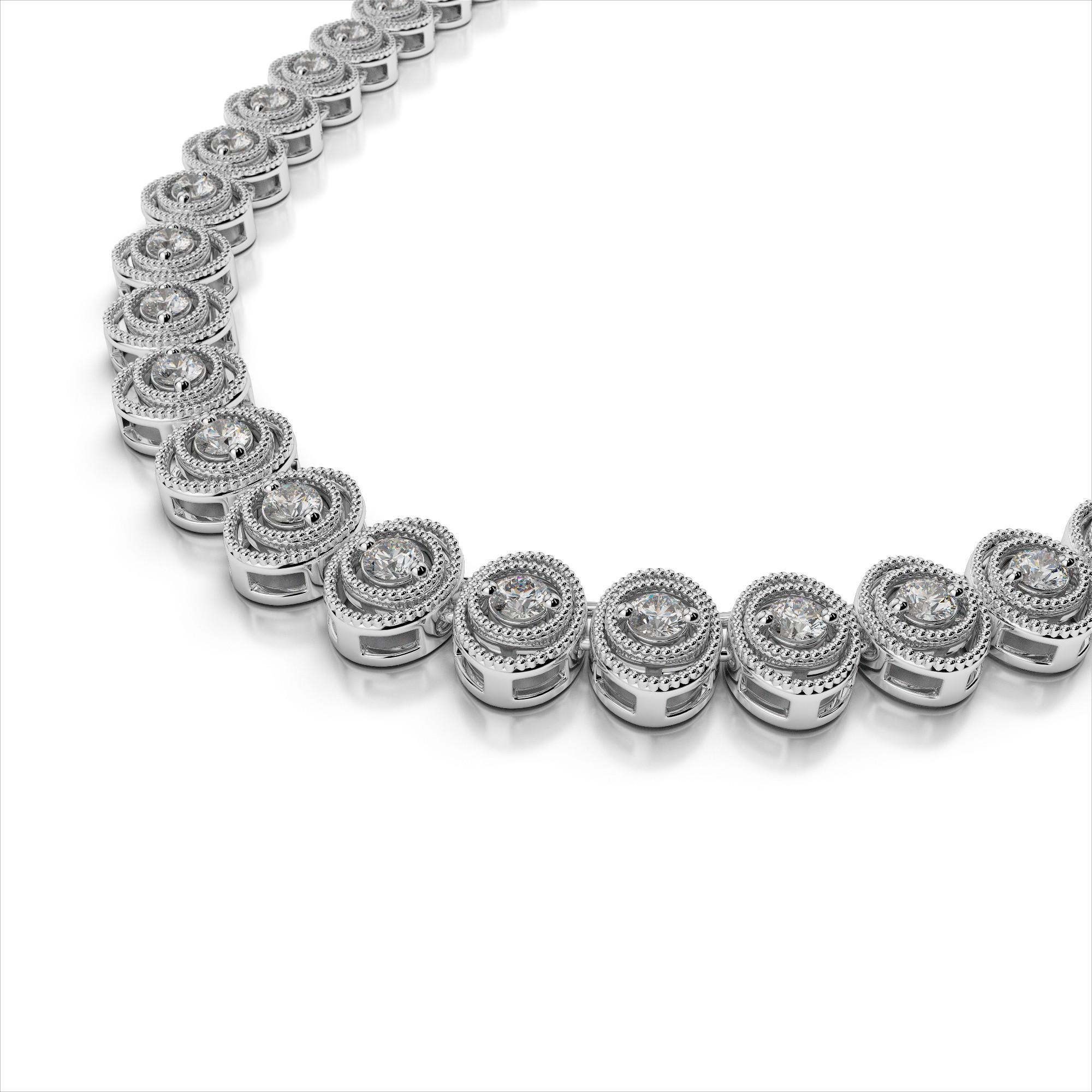 Antique Oval Diamond Necklace