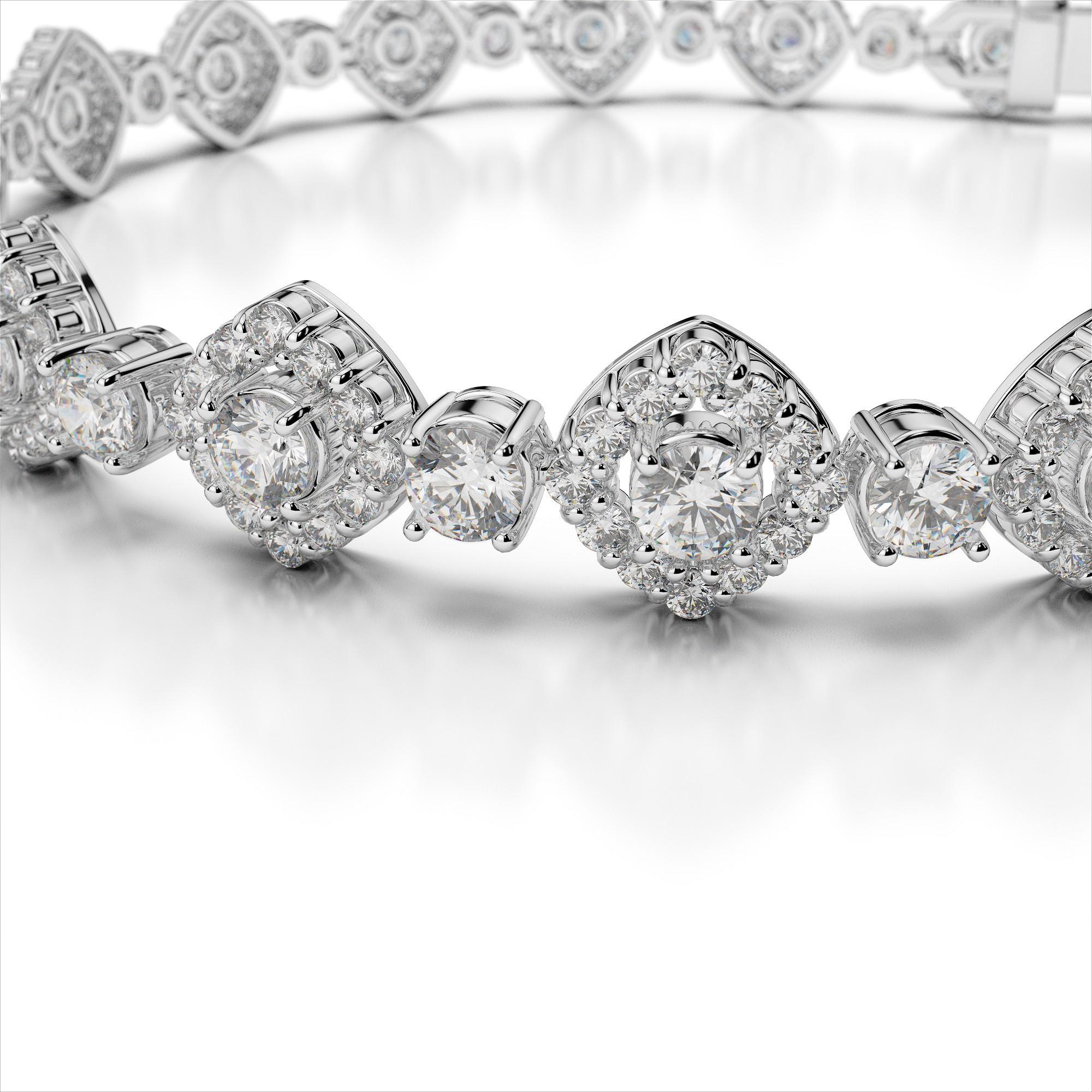 Diamond Square Halo Bracelet