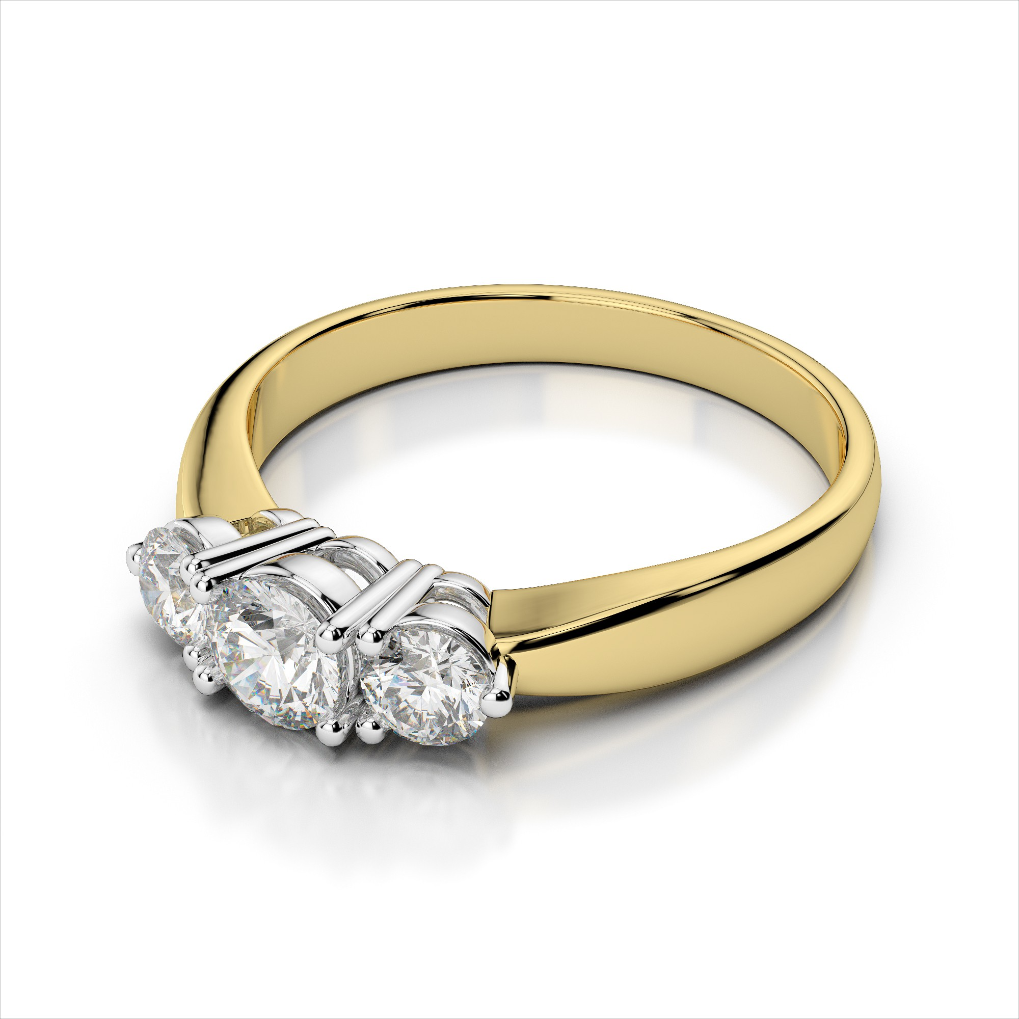 Classic Three Stone Diamond Engagement Ring