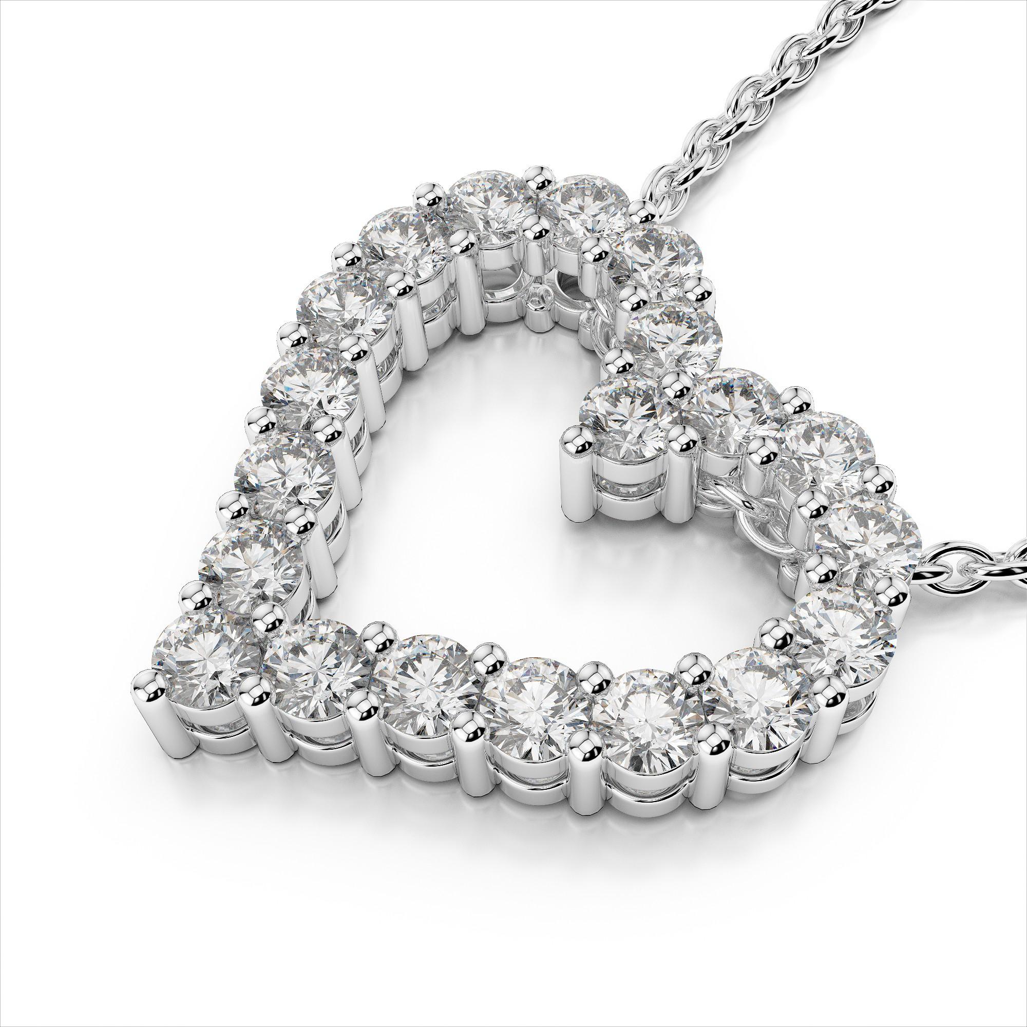 Dazzling Diamond Heart Pendant