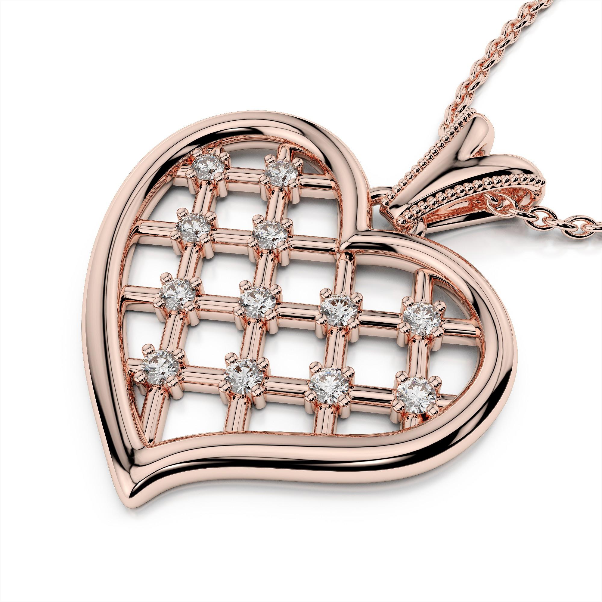Diamond Checkerboard Heart