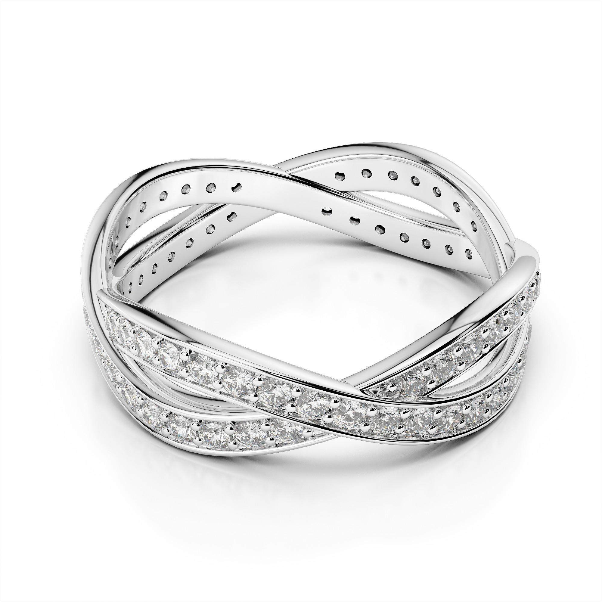 Crisscross Diamond Eternity Band Amouria
